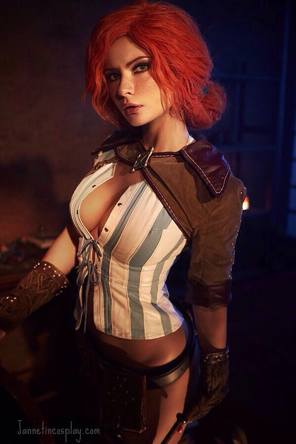 Russian Cosplay: Triss (The Witcher) by jannetincosplay