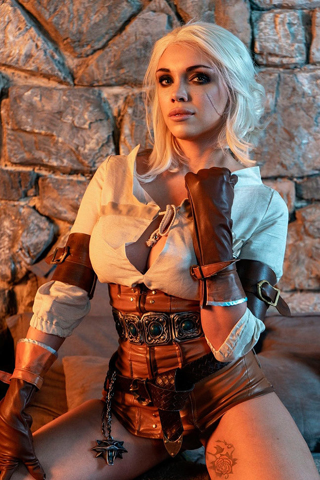 Russian Cosplay: Ciri (The Witcher 3) by Octokuro (NSFW)