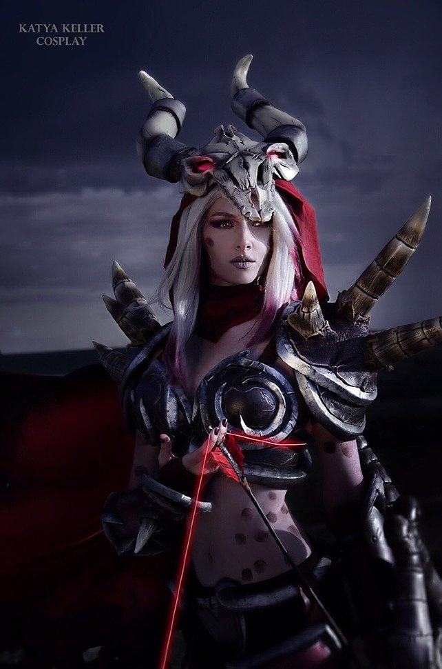 Russian Cosplay: Blood Raven Sylvanas (Heroes of the Storm) by Katya Keller