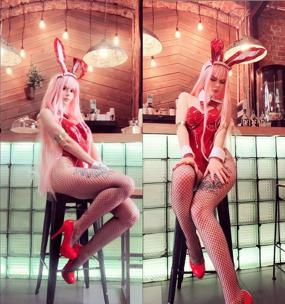Russian Cosplay: Zero Two (Darling in the Franxx) by Fraulein Milk