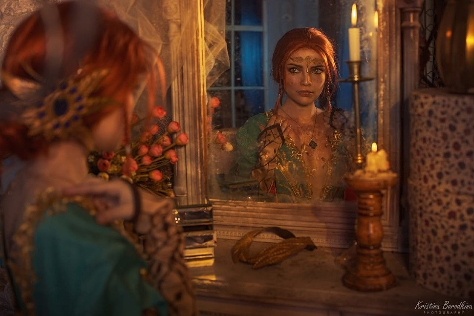 Russian Cosplay: Triss Merigold (The Witcher 3) by Ekaterina Semadeni