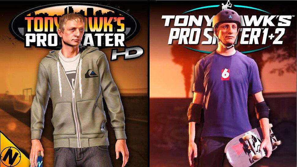 Сравнение графики Tony Hawk's Pro Skater 1+2 vs Tony Hawk's Pro Skater HD