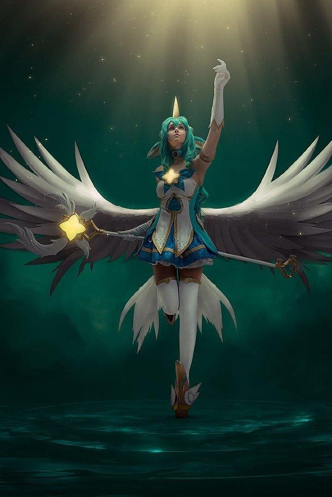 Russian Cosplay: Star Guardian Soraka (League of Legends) by Lubov Mariyanova