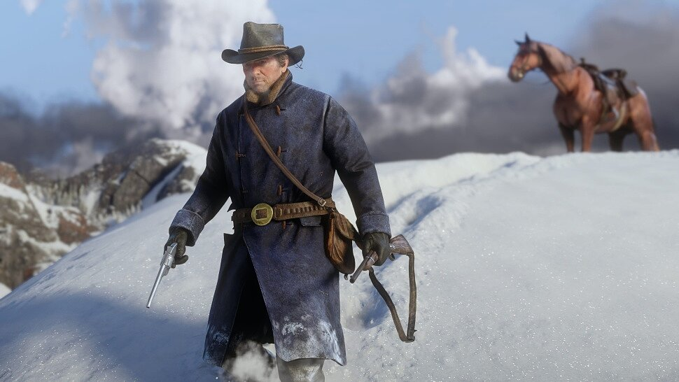 [Fun Video] Sled Riding in Red Dead Redemption 2