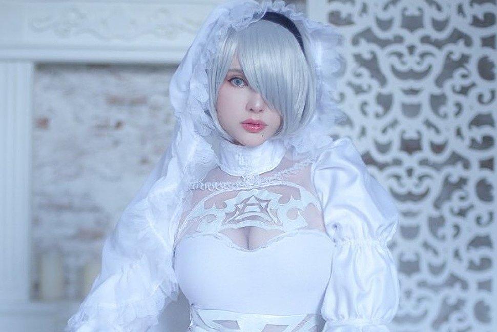 Cosplay: Wedding 2B (NieR: Automata) by saiwestwood