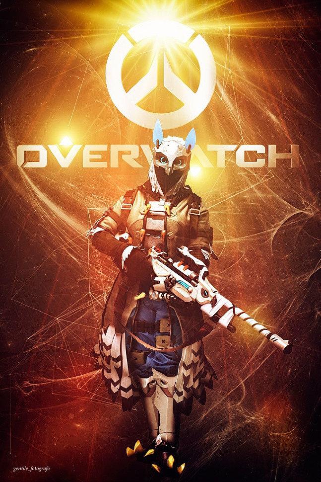 Russian Cosplay: Ana Amari Snow Owl (Overwatch)