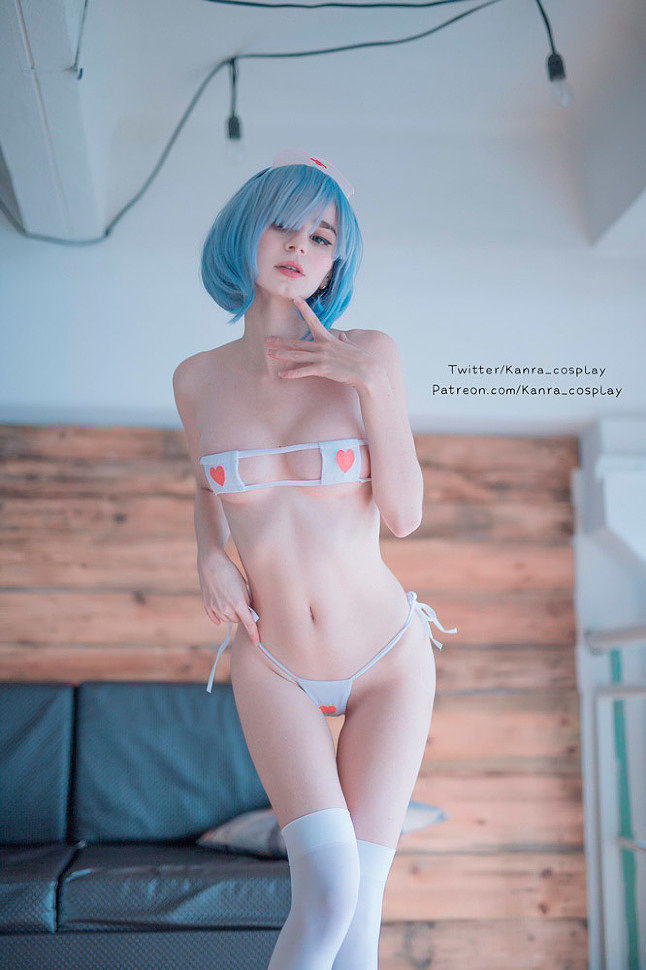 Russian Cosplay: Rem (Re:Zero) by Kanra (NSFW)
