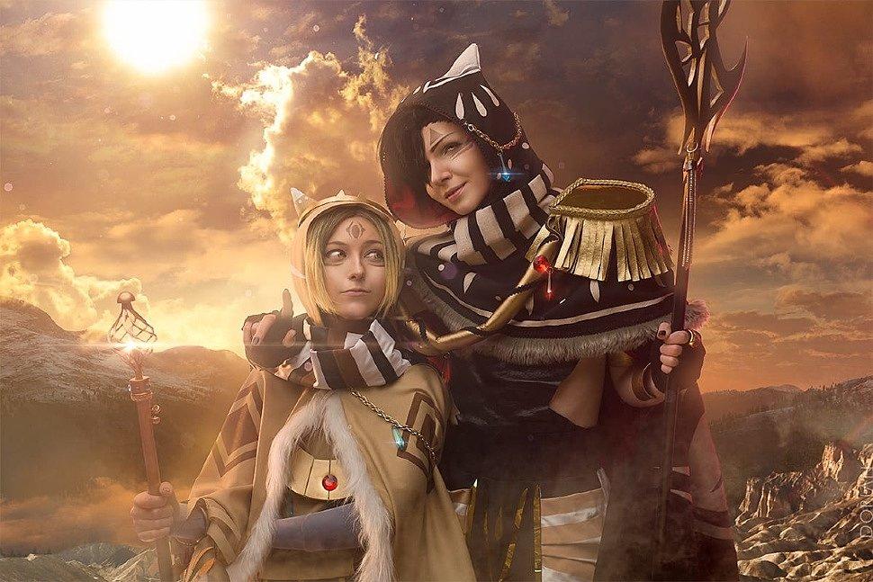 Russian Cosplay: Kozume & Tetsuro (Haikyuu!!   aku-usagi ver)