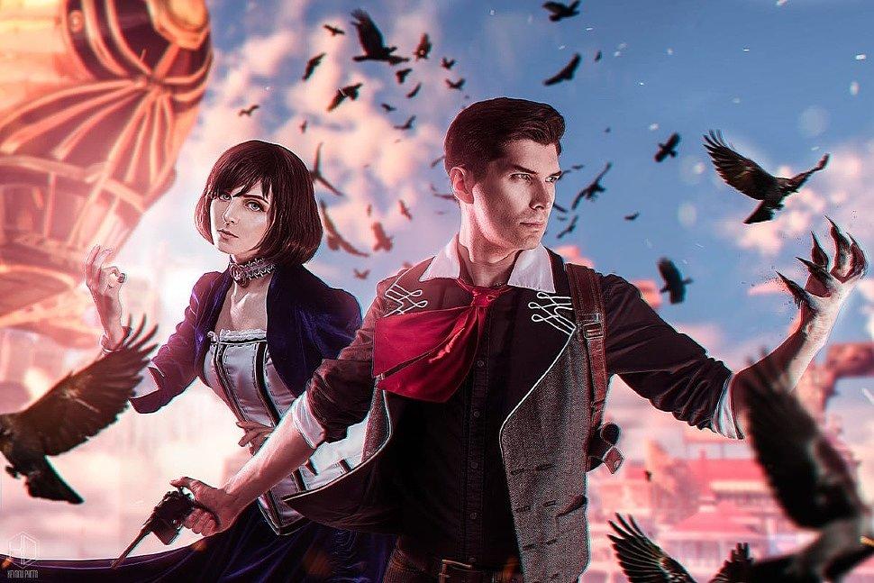 Russian Cosplay: Booker Dewitt & Elizabeth (Bioshock) by Revan & Juhar