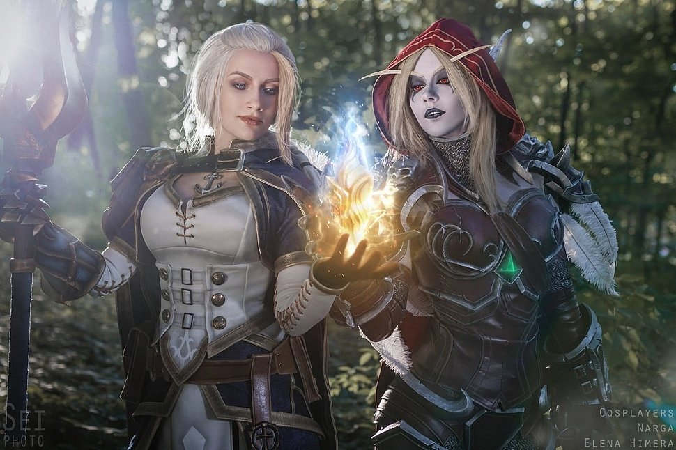 Russian Cosplay: Sylvana & Jaina (World of Warcraft: Battle for Azeroth)