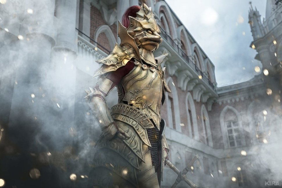 Russian Cosplay: Filianore, Dark Sun Gwyndolin, Dragon Slayer Ornstein & Nameless King (Dark Souls)