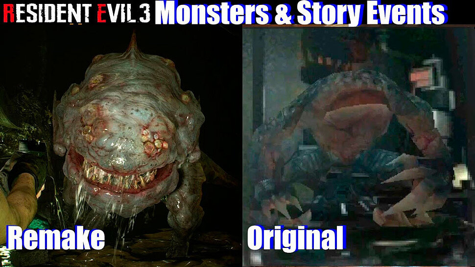 [Fun Video] Story Events Comparison Resident Evil 3 Remake vs Original RE3