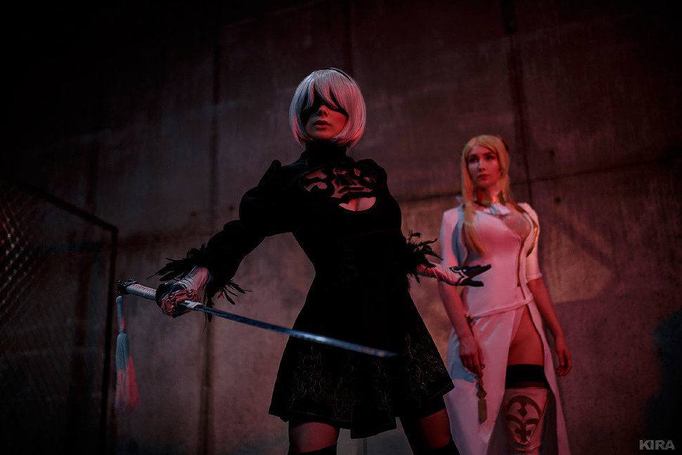 Russian Cosplay: 2B, Commander (NieR: Automata)