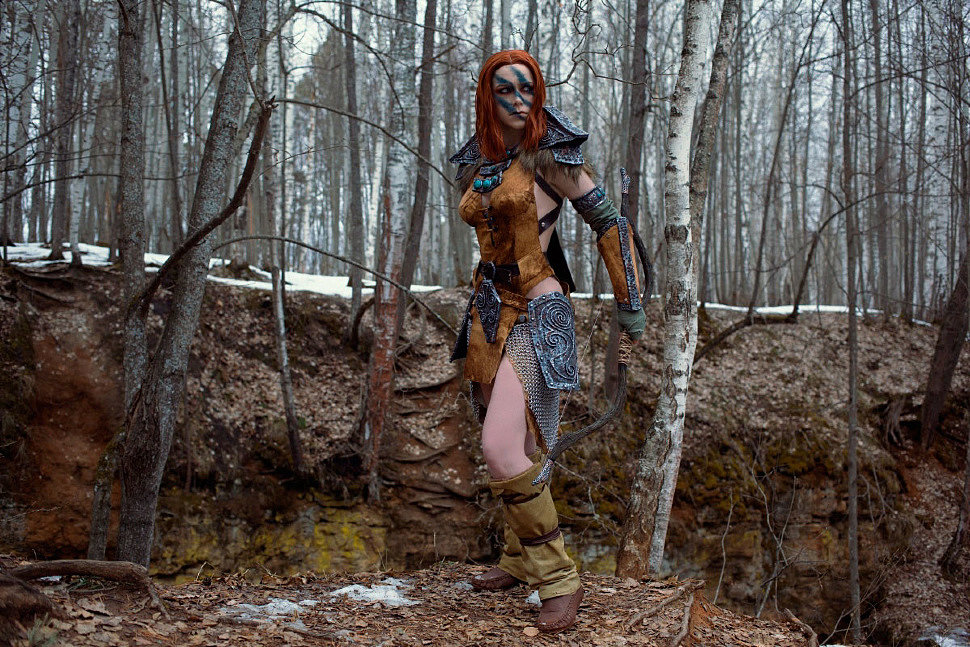 Russian Cosplay: Aela The Huntress (The Elder Scrolls)