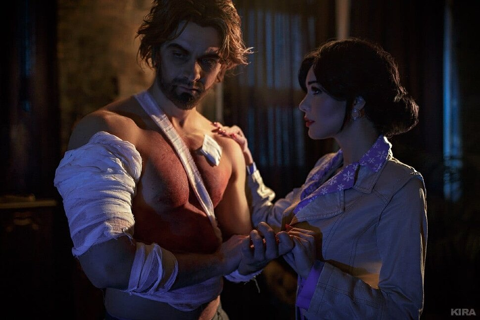 Russian Cosplay: Snow White & Bigby Wolf (The Wolf Among Us) by Maria Hanna & Michael Nazarov