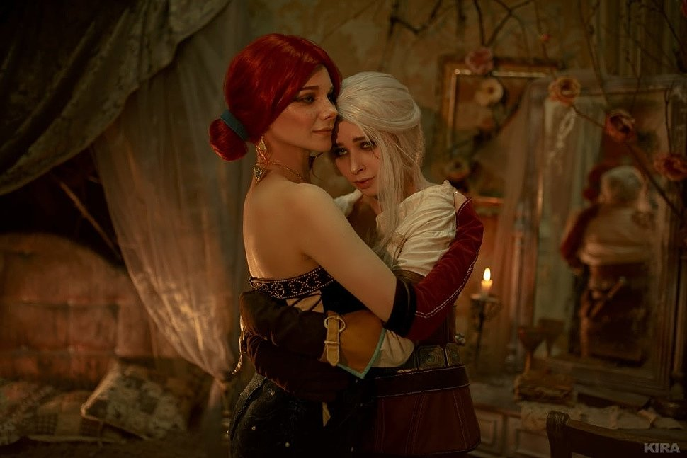 Russian Cosplay: Triss & Ciri (The Witcher 3: Wild Hunt