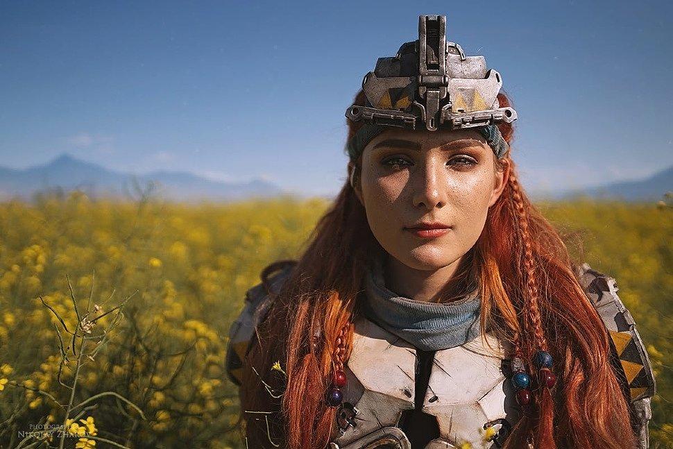 Russian Cosplay: Aloy (Horizon Zero Dawn) by Katya Navolockaya