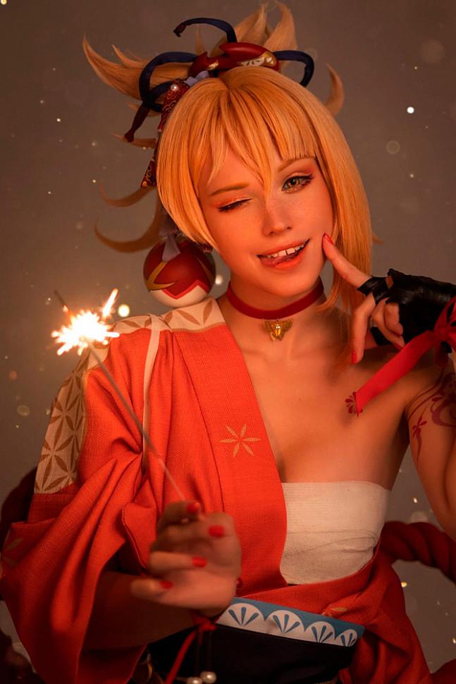 [Cosplay] Yomiya (Genshin Impact) by shirogane_sama