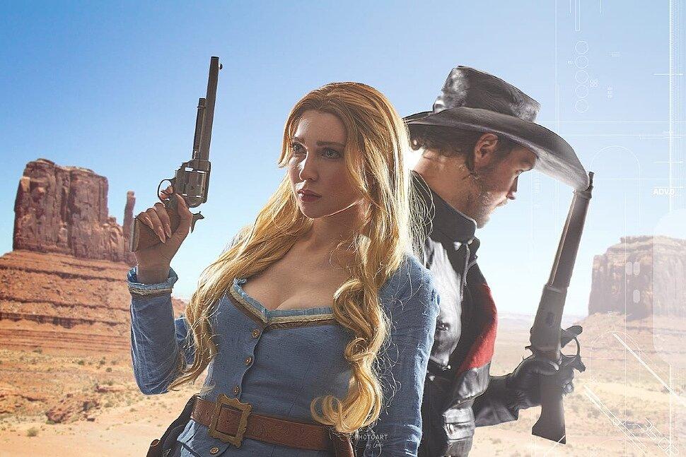 Russian Cosplay: Dolores Abernathy & Hector Escaton (Westworld) by Olya Bony & Selgis