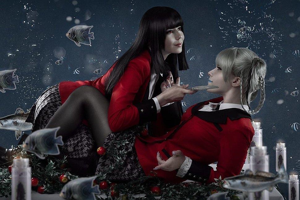 Russian Cosplay: Yumeko Jabami & Kirari Momobami (Kakegurui | Compulsive Gambler)