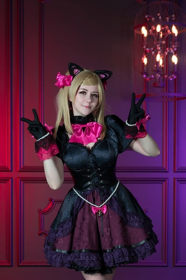 Russian Cosplay: Black Cat D.Va (Overwatch)