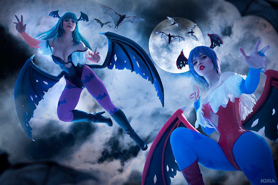 Russian Cosplay: Morrigan, Lilith (Darkstalkers)