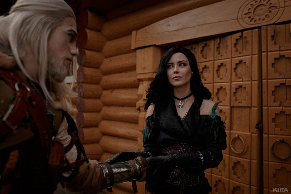 Russian Cosplay: Yennefer, Geralt (The Witcher 3: Wild Hunt. Another Round for Everyone)