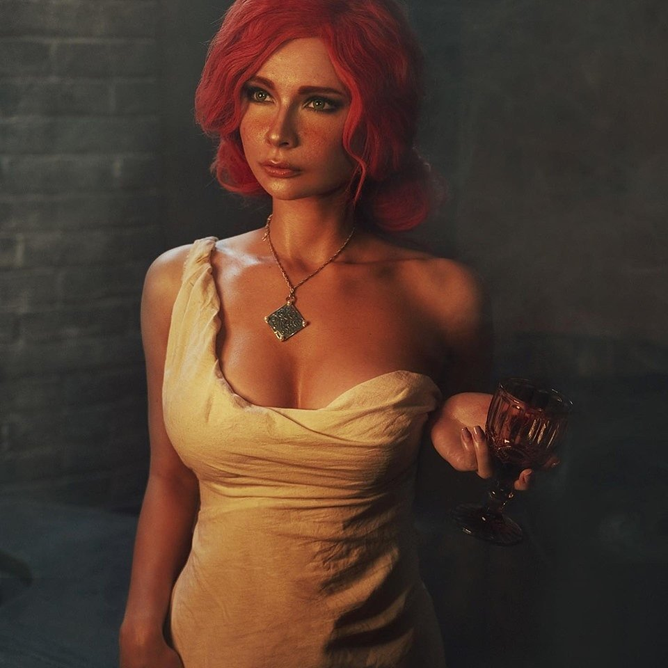 Russian Cosplay: Triss (The Witcher) by Jannet Incosplay (18+)