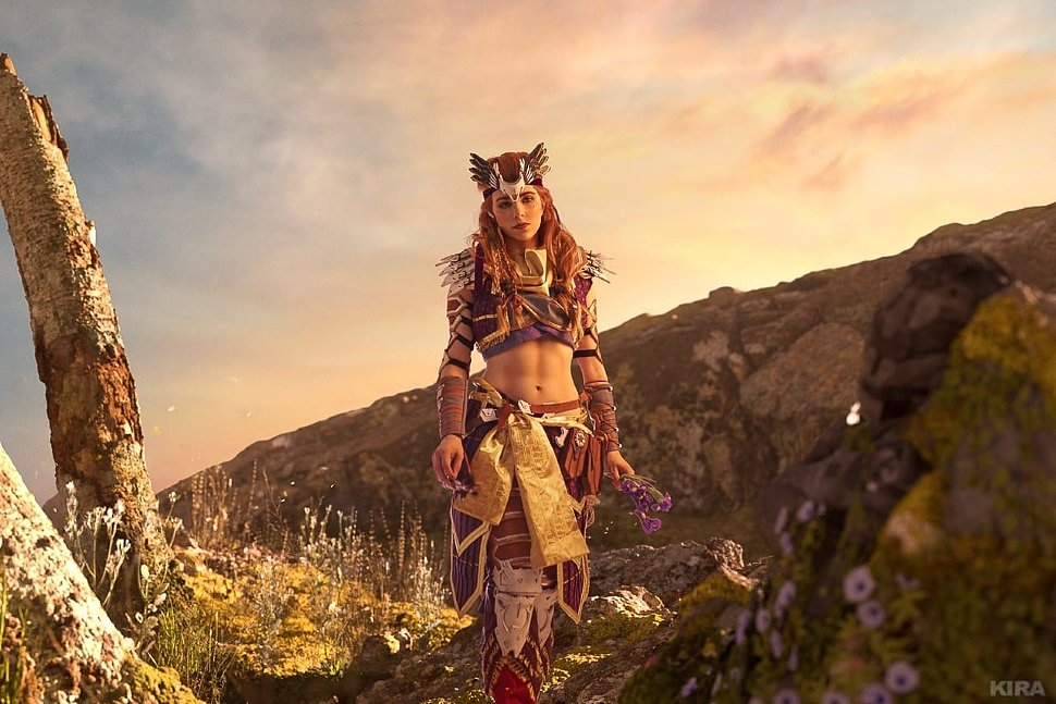 Russian Cosplay: Aloy (Horizon: Zero Dawn) by Aurora