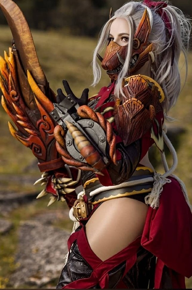 Cosplay: Odogaron Armor Set (Monster Hunter) by Sayuri