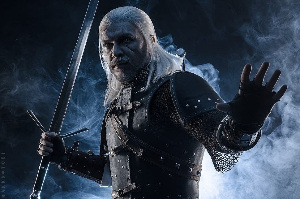 Russian Cosplay: Geralt & Dandelion (The Witcher 3) by HaJI & Sertenus