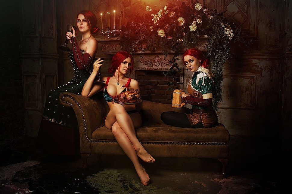 Russian Cosplay: Triss (The Witcher)