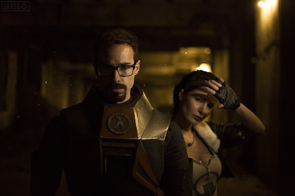 Russian Cosplay: Gordon Freeman & Alyx Vance (Half-Life 2)