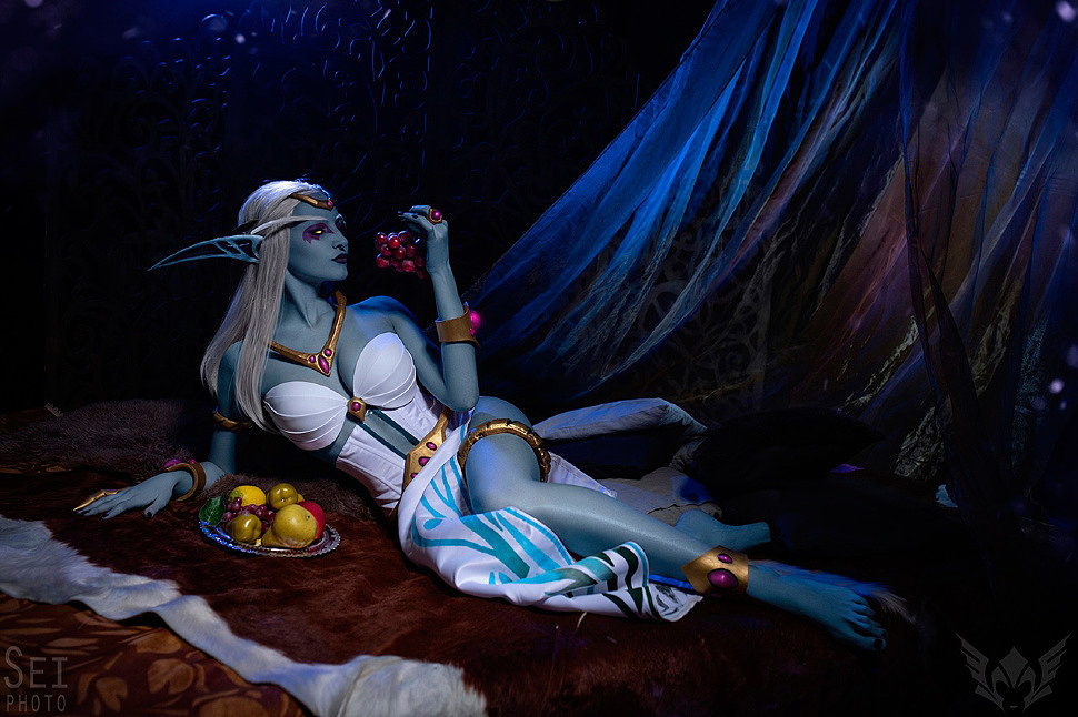 Russian Cosplay: Queen Azshara (World of Warcraft) by ronina_l