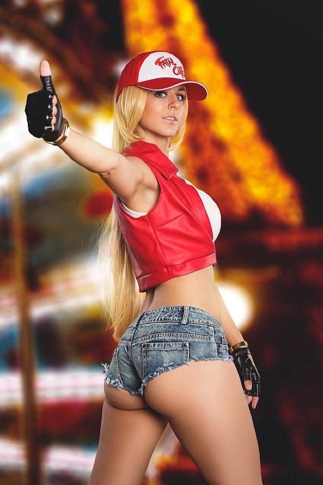 Cosplay: fem! Terry Bogard (SNK) by Juby Headshot