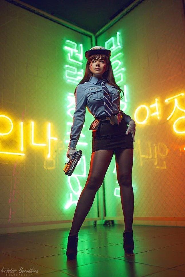 Russian Cosplay: D.Va (Overwatch) by VICRERIN