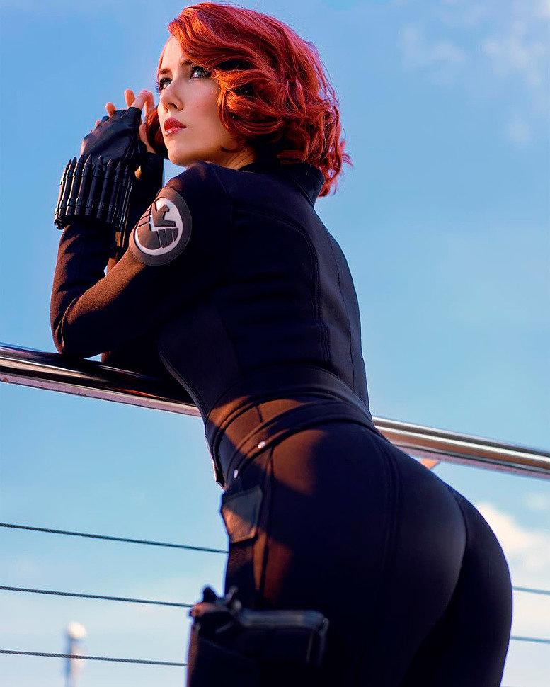 Russian Cosplay: Black Widow (The Avengers) by Helen Stifler