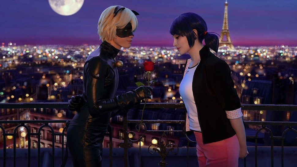 Russian Cosplay: Marinette Dupain Cheng & Cat Noir (Miraculous Ladybug)