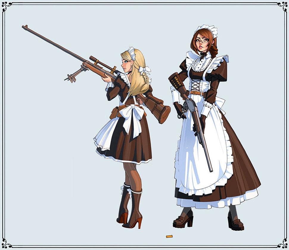 [Art] Maid Squad by Ivan Yakushev