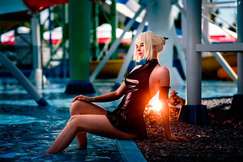 Cosplay: Saber Swimsuit (Fate) by Voeza