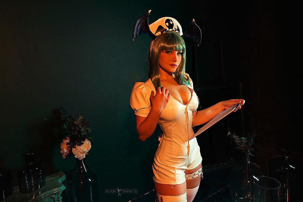 Russian Cosplay: Nurse Morrigan (Darkstalkers) by captainanemon