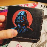 Handmade Star Wars - Darth Vader Red Star Custom Wallet