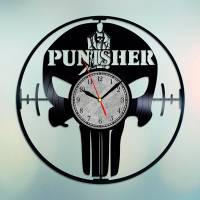 Handmade Marvel - The Punisher Vinyl Clock Wall