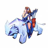 Dota 2 - Mirana DIY Paper Craft Kit