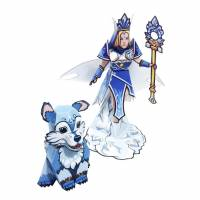 Dota 2 - Crystal Maiden DIY Paper Craft Kit