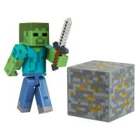 Jazwares Minecraft - Zombie with Accessory Figure