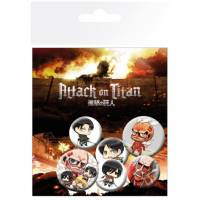 GB Eye Attack on Titan Badge Pack