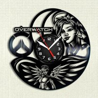 Handmade Overwatch - Mercy Vinyl Clock Wall