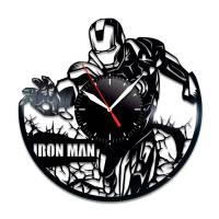 Handmade Marvel - Iron Man Vinyl Clock Wall