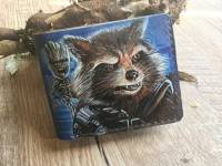 Handmade Marvel - Groot and Rocket Raccoon Custom Wallet